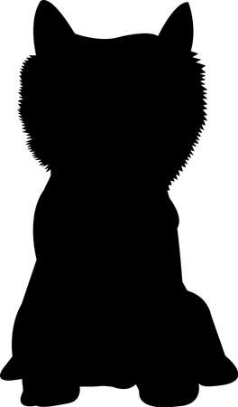 Westie dog 10 isolated vector silhouette
