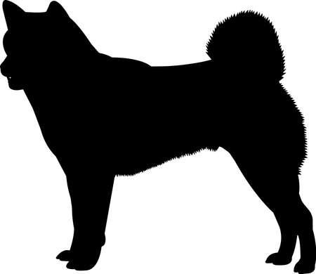 Shiba Inu 3 isolated vector silhouette