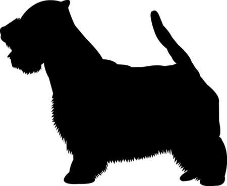 Westie dog 7 isolated vector silhouette Ilustracja