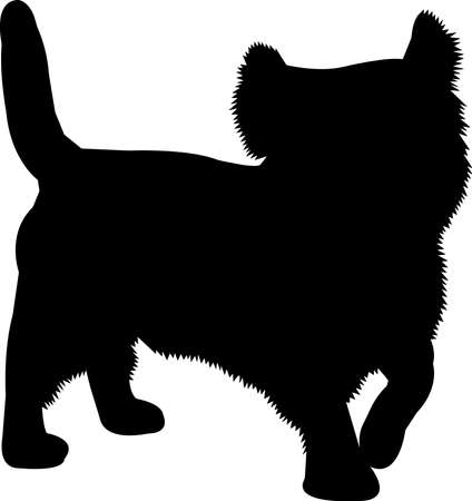 Westie dog 6 isolated vector silhouette