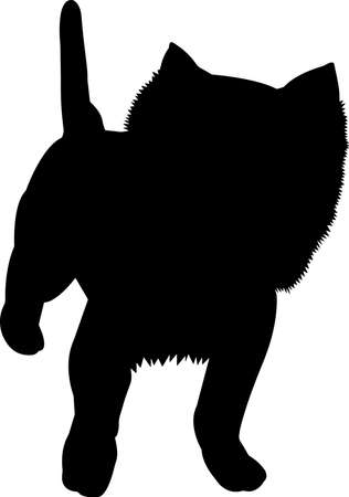 Westie dog 4 isolated vector silhouette Ilustracja