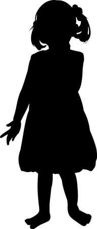 Toddler Girl Silhouette Vector