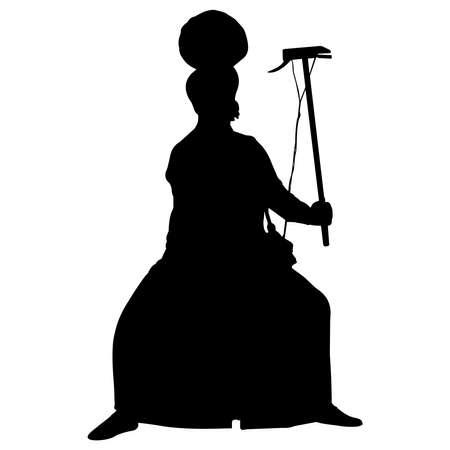 Bhangra Silhouette Vector Illustration
