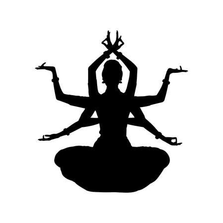 Bharatnatyam Silhouette Vector