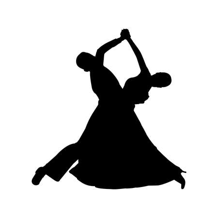 Foxtrot Ballroom Dance Silhouette Vector