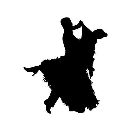 Foxtrot Ballroom Dance Silhouette Vector 矢量图像