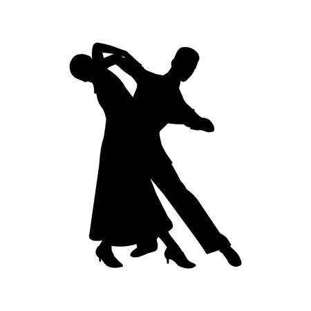 Waltz Ballroom Dance Silhouette Vector
