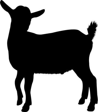 Pygmy Goat Vector Silhouette Ilustração