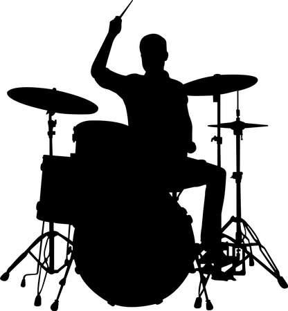 Drummer Silhouette Vector