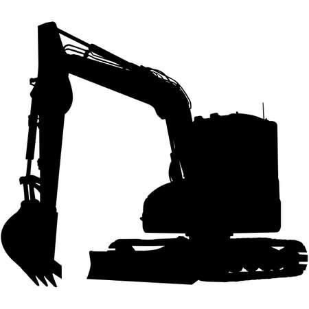Excavator Silhouette Vector Vektorgrafik