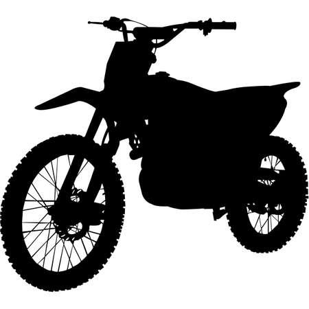 Dirt Bike Silhouette Vector 向量圖像
