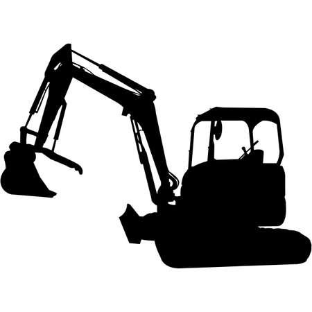 Excavator Silhouette Vector Vetores