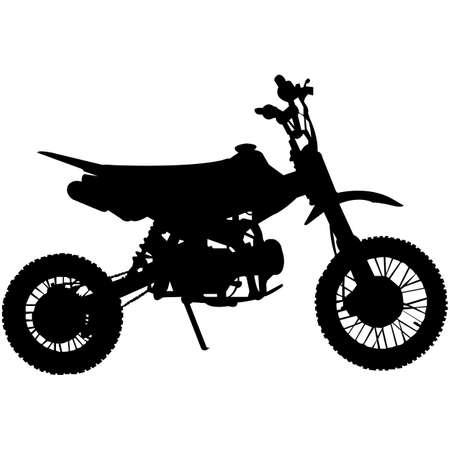 Dirt Bike Silhouette Vector Vektoros illusztráció