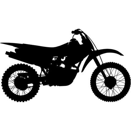 Dirt Bike Silhouette Vector Vektorgrafik