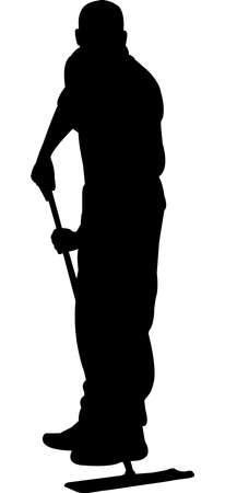 Janitor Silhouette Vector