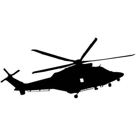 Helicopter  Silhouette Vector Vectores