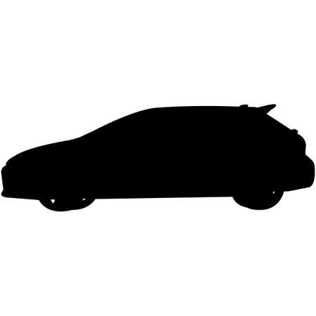Hatchback  Silhouette Vector