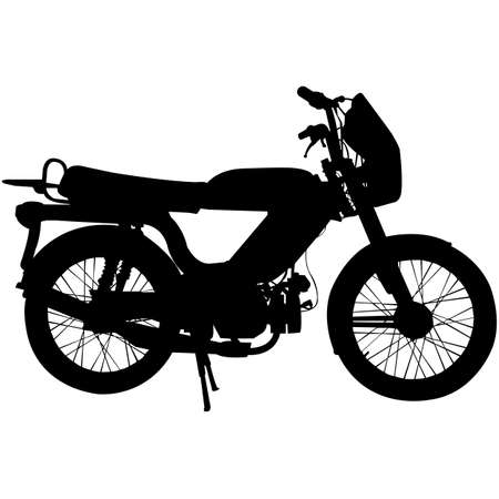 Moped Silhouette Vector
