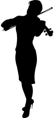 Violinist Silhouette Vector