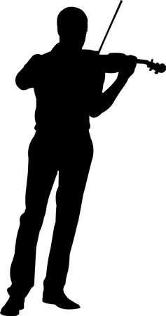 Violinist Silhouette Vector Illustration