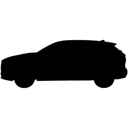 SUV Car  Silhouette Vector