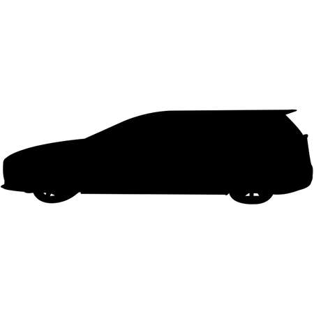 Wagon Car  Silhouette Vector