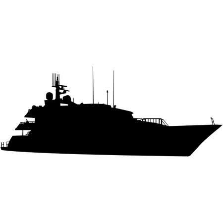 Yacht  Silhouette Vector