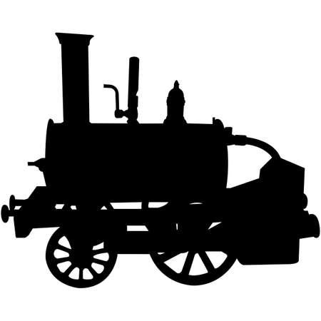 Steam Engine Silhouette Vector Векторная Иллюстрация