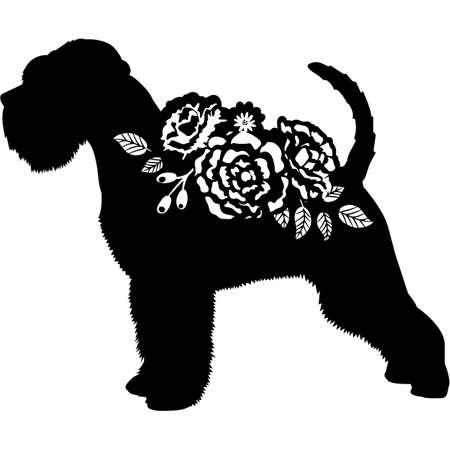 Miniature Schnauzer Dog Silhouette Vector Ilustración de vector