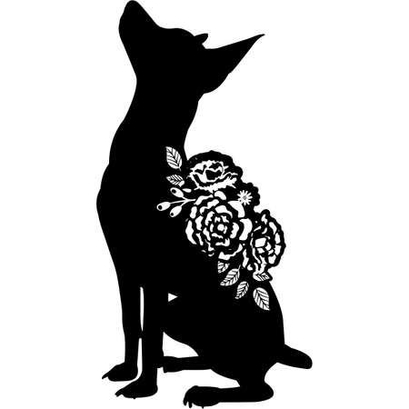 Toy Fox Terrier Silhouette Vector