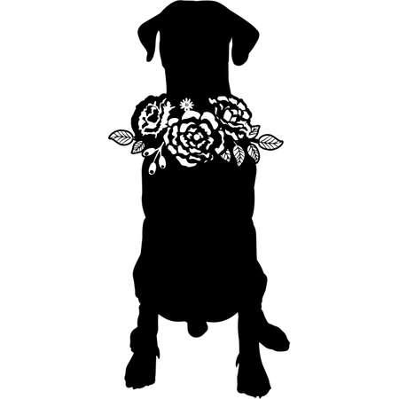 Dobermann Dog Silhouette Vector