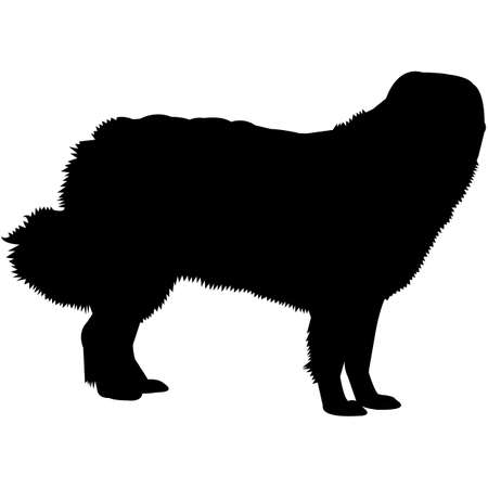 Great Pyrenees  Silhouette Vector