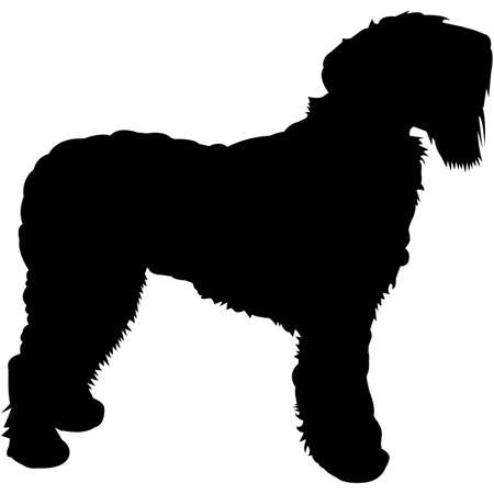 Black Russian Terrier Silhouette Vector