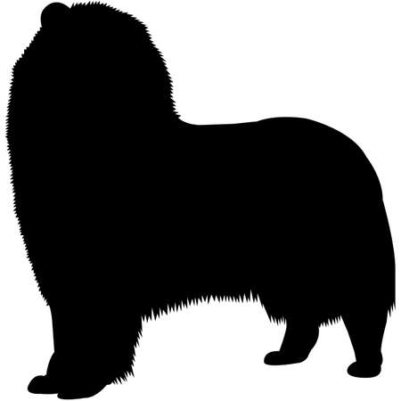 Collie (Rough) Silhouette Vector