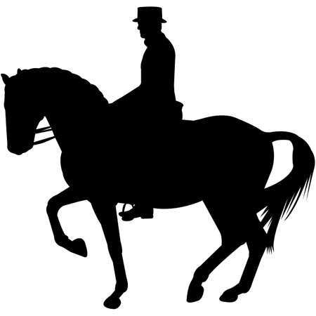 Dressage Silhouette Vector