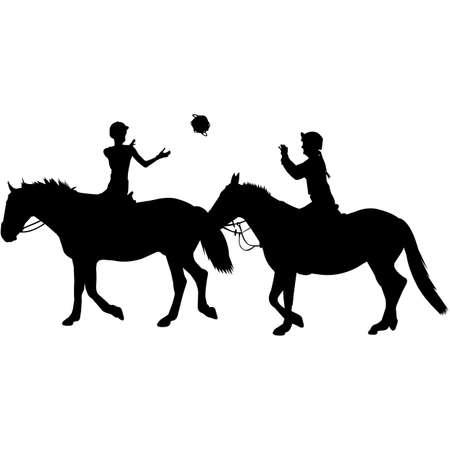 Horseball  Silhouette Vector