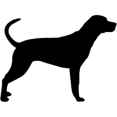 Bluetick Coonhound  Silhouette Vector