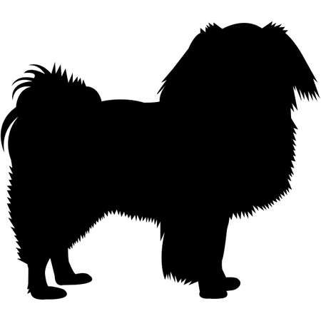 Japanese Chin Silhouette Vector