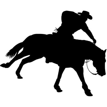 Reining Silhouette Vector