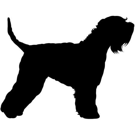 Soft Coated Wheaten Terrier Silhouette Vector
