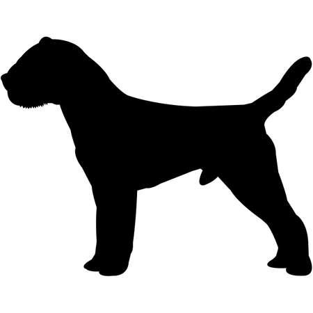 Border Terrier Silhouette Vector