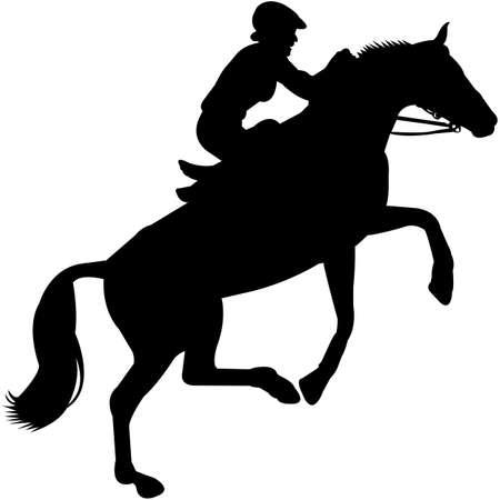 Endurance Riding Silhouette Vector