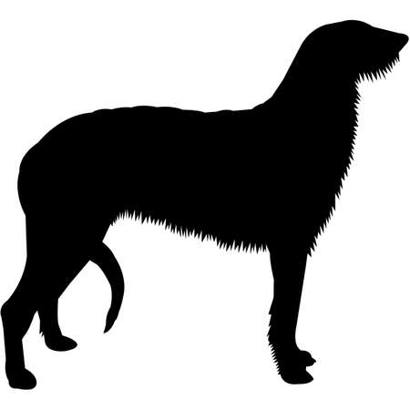 Scottish Deerhound  Silhouette Vector 写真素材 - 158518916