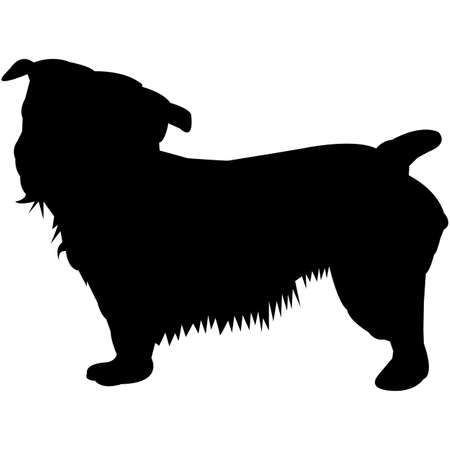 Glen of Imaal Terrier  Silhouette Vector Illustration