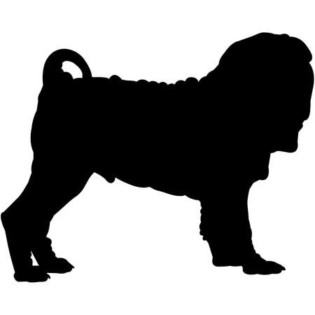 Chinese Shar-Pei  Silhouette Vector