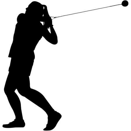 Hammer Throw Silhouette Vector
