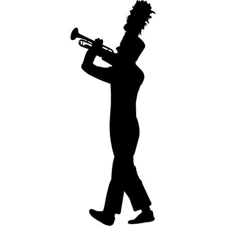 Bugle Corps Silhouette Vector