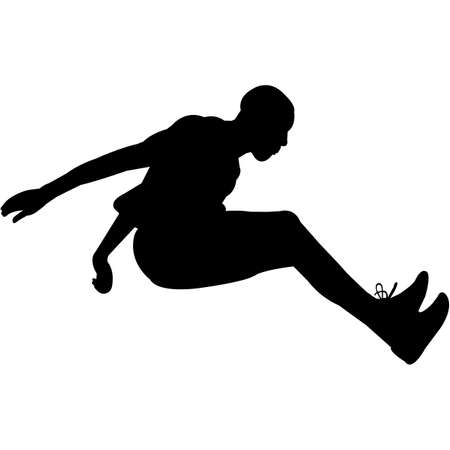 Long Jump Silhouette Vector