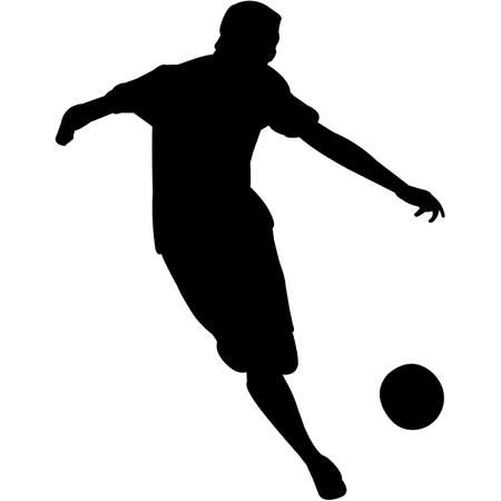Kickball Silhouette Vector Çizim