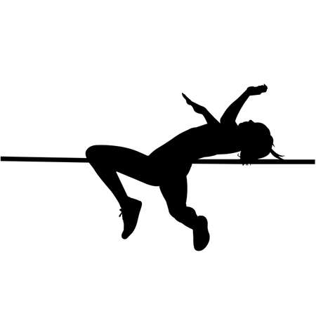 High Jump Silhouette Vector